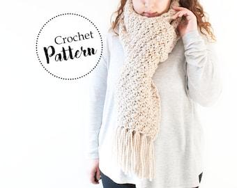 Grande sciarpa con frange schema uncinetto || schema sciarpa di lana || schema sciarpa invernale || schema sciarpa donna
