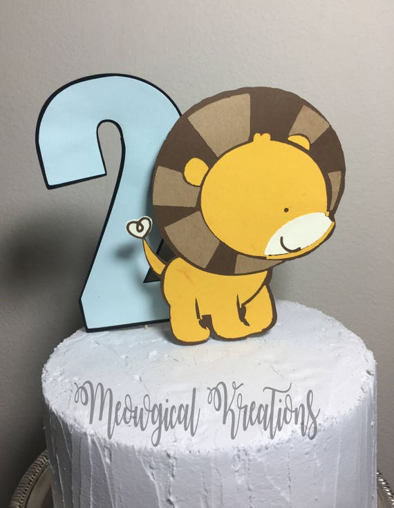 Lion Baby Shower/ Lion Cake Topper/ Lion Birthday Party/Lion | Etsy