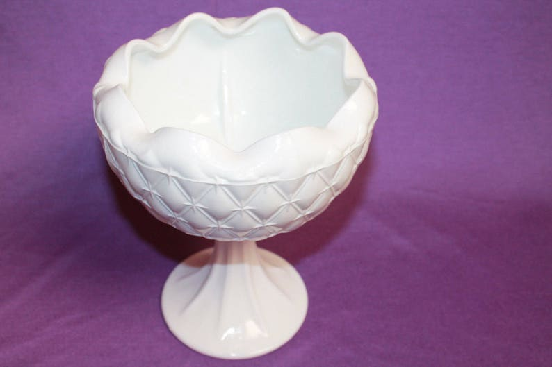 Self-Conscious Fenton Milk Glass White Hobnail Candle Stick Holders Set Of 2 North American