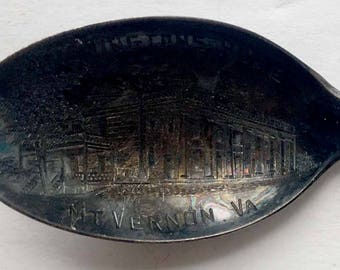 C. 1910 Sterling Silver Souvenir Spoon from George Washington's Home, Mount Vernon Virginia
