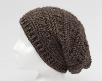 Order on request. Crochet, Slouchy hat, for men, teen or woman, decorative accessorie, men collection.