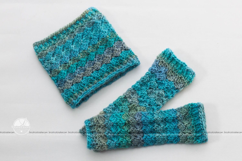 crochet cache cou jambi res gu tre b b ensemble duo etsy. Black Bedroom Furniture Sets. Home Design Ideas