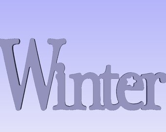 Winter word plaque,Wood word Plaque, seasonal sign,Cutout winter sign ,shabby chic winter sign, aged winter sign, antiqued winter sign