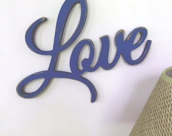 Love word,Carved Wood Plaque, love sign,shabby chic sign, aged love sign, antiqued love sign. inspirational signs, love wood word,8x12