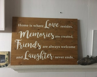 Family Sign. Love plaque. family together sign, memories sign ,home sign, antiqued family sign, friends sign, laughter sign