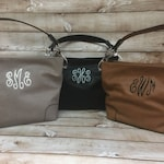 Monogram Purse, Monogram Handbag, Monogram Shoulder Bag, Vegan Leather Purse, Women's Monogram Purse, Ladies' Monogram Purse, Women's Gift