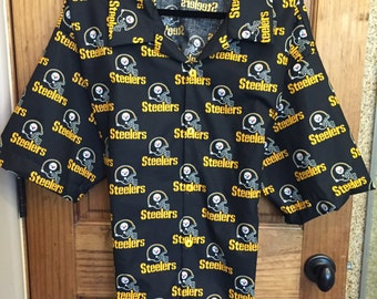 17368a1be54 Pittsburgh Steelers Hawaiian shirt--Tommy Bahama Style--matching front