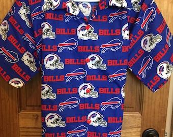 Buffalo Bills Hawaiian Shirt--Tommy Bahama Style--Perfect Matching Front ea75d6f6f