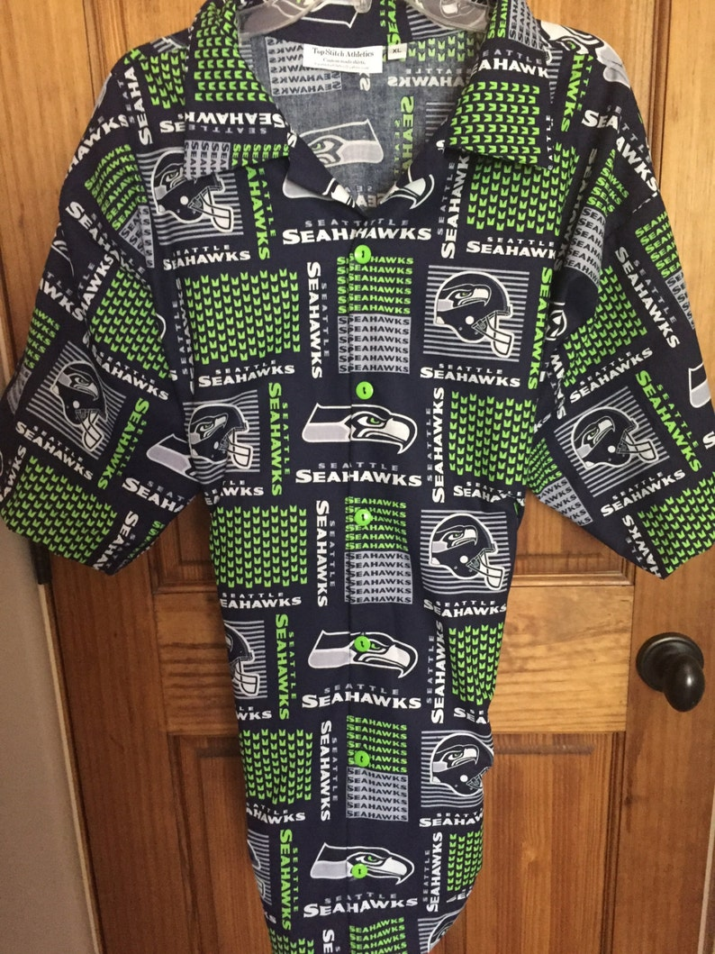 9c59890b2 Seattle Seahawks Hawaiian ShirtTommy Bahama StylePerfect