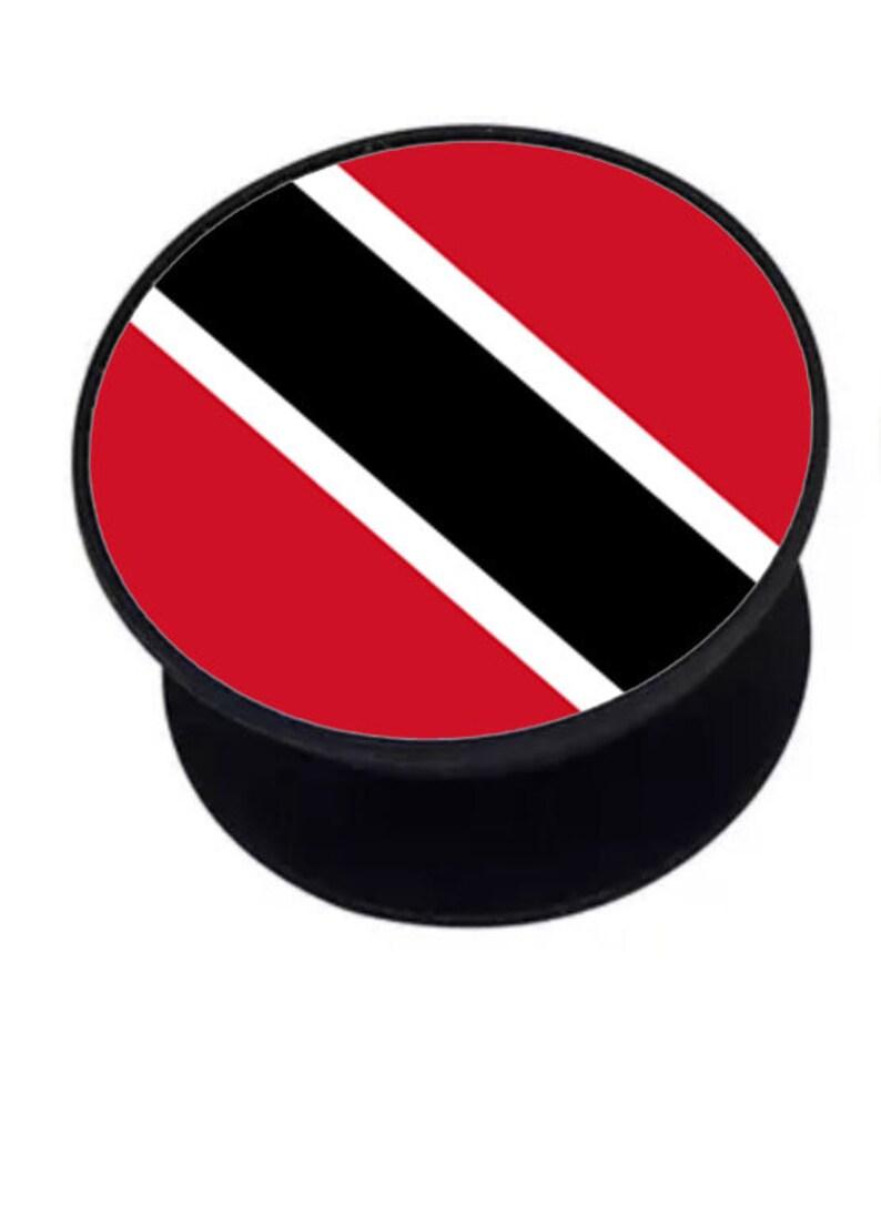 Cell phone ring holder pop socket with Trinidad /& Tobago flag