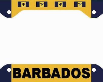 Barbados License Plate Frame