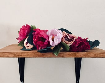 Flower Crown, Floral Crown, Bohemian Headpiece, Festival Crown, Bohemian Wedding Headpiece, Bridal Crown, Hippie headband, Flower Wreath