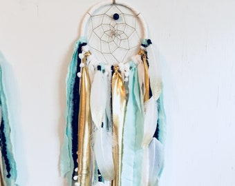 Wild One Birthday Boy Dream Catcher, Dreamcatcher for Wild One Theme or First Birthday Party, Black and Gold, Mint and Gold, Wall Hanging