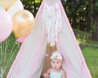 First Birthday Girl Party Decor Dream Catcher, Pink and Gold Dreamcatcher for 1st Birthday Party or Baby Shower Decor, Girl Nursery Decor