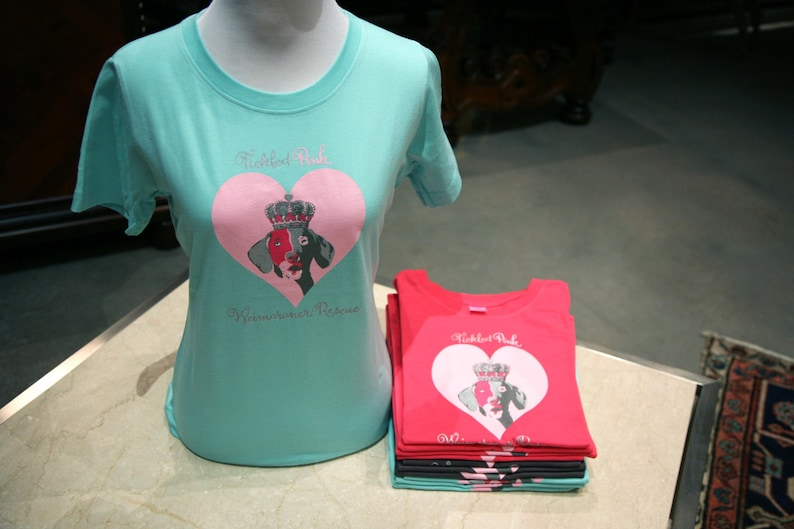 Mint Green Weimaraner T-Shirt to Support Rescue image 0