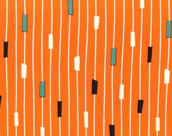 Jug or Not? String Theory in Tangerine by Michael Miller Fabrics 2063