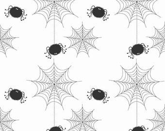 Spider Webs on White by Riley Blake Designs 6534