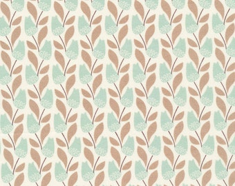 Bloomsbury in Turquoise, Park Life Collection by Elizabeth Olwen for Cloud 9 Organic Fabrics 1135