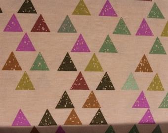 Brushstroke Triangles in  Orange Sherbet KNIT by Stenzo Textiles, Premium Euro Cotton - Spandex Jersey Knit, Netherlands 5535