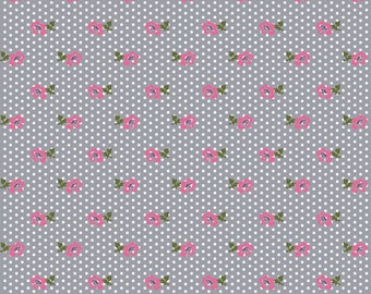 Dotty Floral in Knit, Homestead Life Collection, BOLT by Girl Charlee, Made in USA, Cotton Jersey Knit Fabric 5634