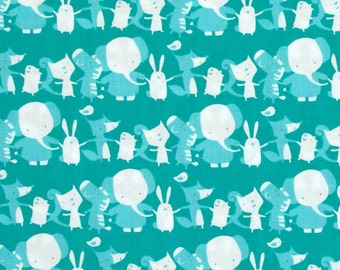 Animal Stripe in Cheer, Play Date Collection by David Walker for Free Spirit Fabrics 4183