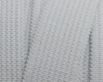 """2"""" White Knitted Elastic SOLD by the YARD, 2 inch elastic"""