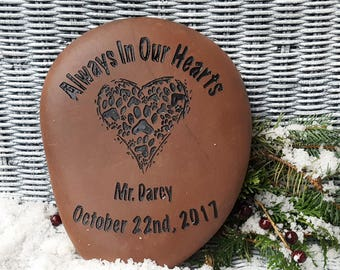 Pet Memorials - Pet Sympathy - Garden Pet Memorial - Death of Pet Gift - Cat Memorial Gift - Dog Memorial Gift - Custom Pet Name - God Rocks