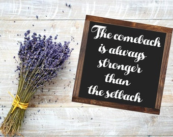 Setback Quote Etsy