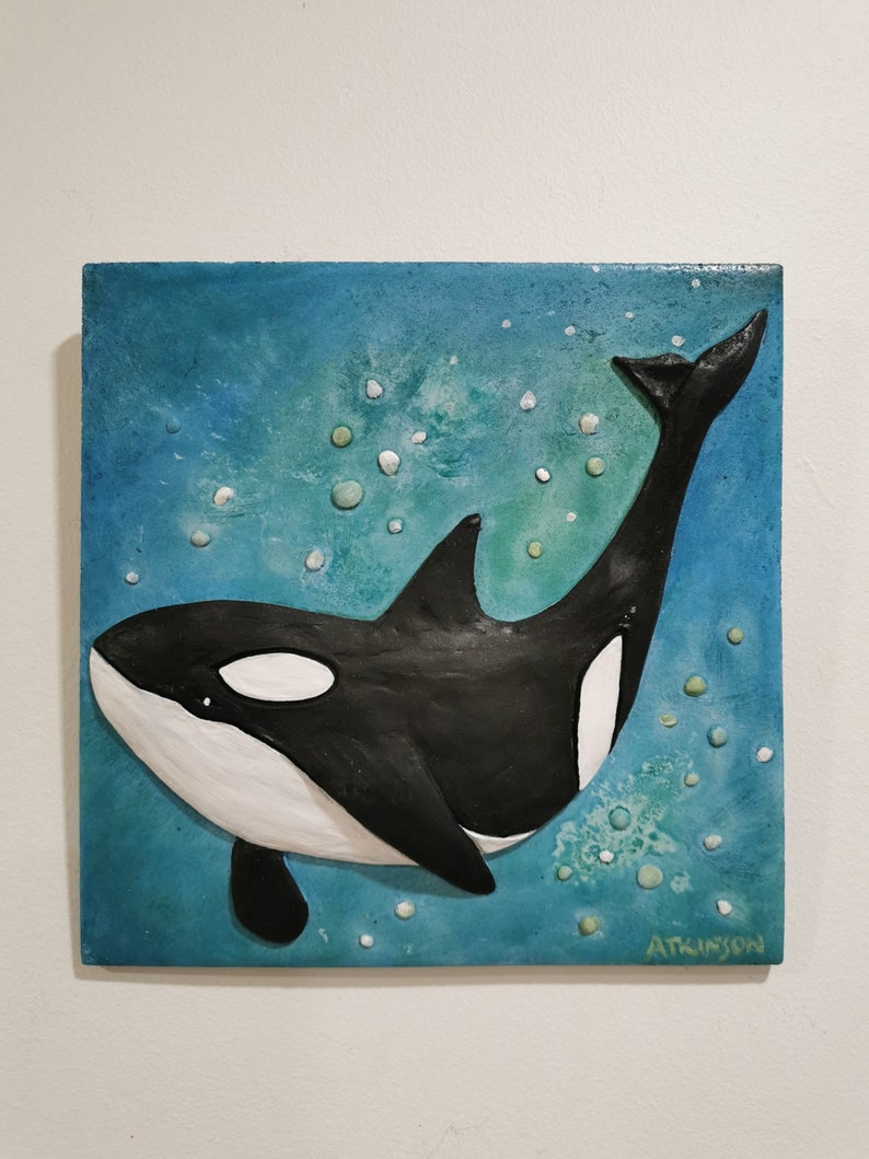 Orca Wall Artmarine Killer Whalefish Wall Decor Ocean Etsy