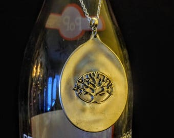 Tree of Life Spoon Bowl Pendant. Free shipping within Canada.