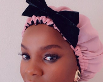 Pink Bonnet for Women with Satin lining