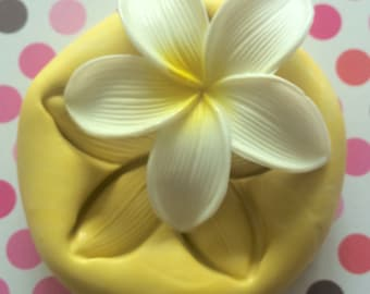 Large PLUMERIA Flower Mold - Flower Mold, Plumeria Mold, Craft Supply, Cupcake Topper, Chocolate Mold, Flower Molds, Clay Mold, Molds, Mold