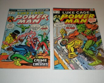 Luke Cage, Power Man 25, 29, (1977), Goliath Ringmaster Mr Fish Marvel B01