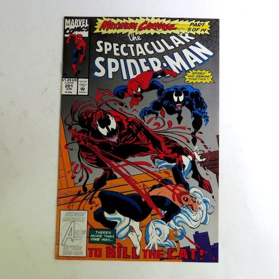 Spectacular Spider Man 201 1993 Maximum Carnage 5 Black Cat Venom Marvel C06t