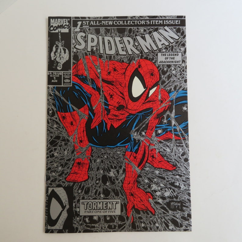 """SPIDER-MAN #1 AUG 1990  """"TORMENT"""" PART ONE OF FIVE GOLD COVER VERSION MARVEL"""
