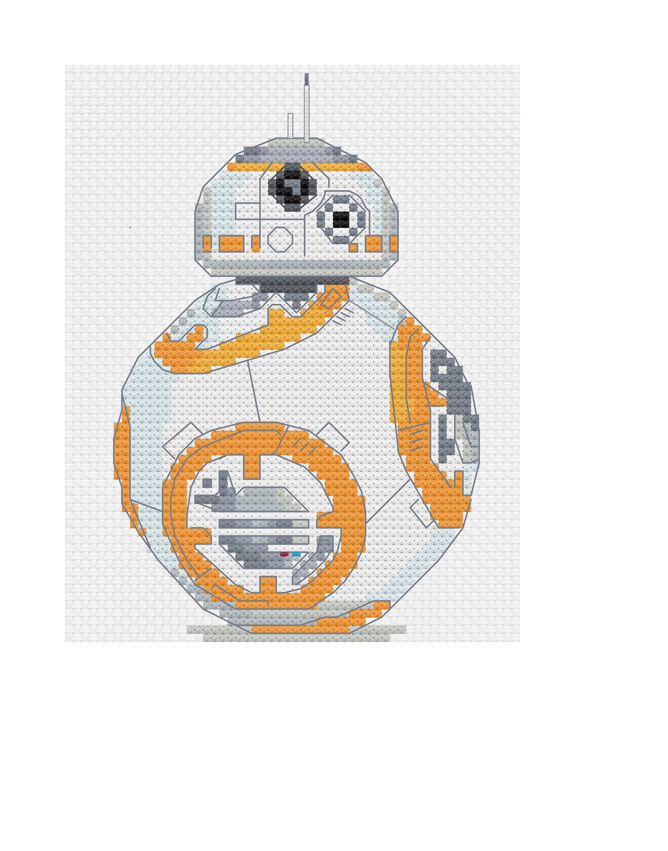 Star Wars BB8 Cross Stitch modèle | Etsy