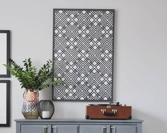 Black and White Large Scale Geometric Art Print   Abstract Poster   Optical Art   Printable Wall Art