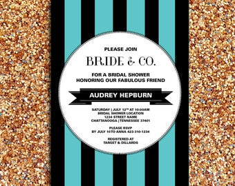 Bride & Co. Bridal Shower or Party Invitation and Matching Party Printables   DIY Printable Digital File