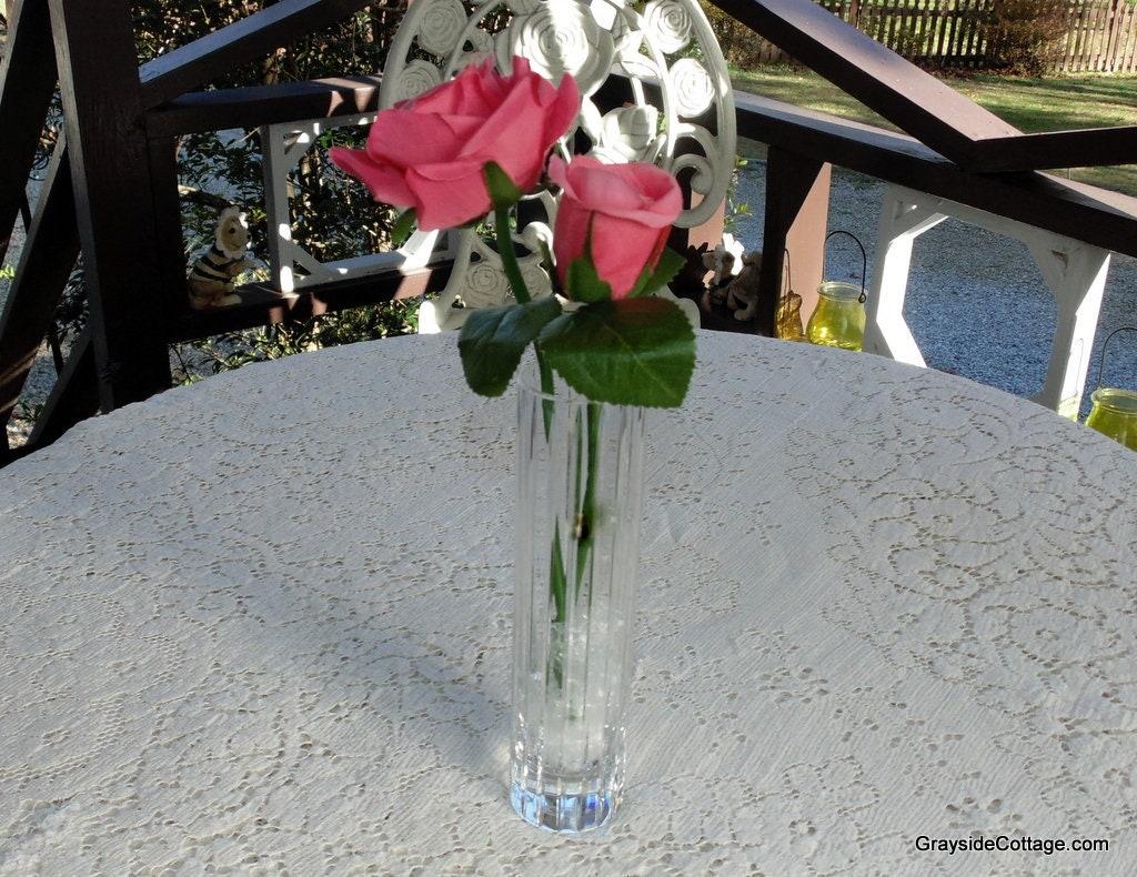 Baccarat Crystal Flower Bud Vase Harmonie Hand Cut French