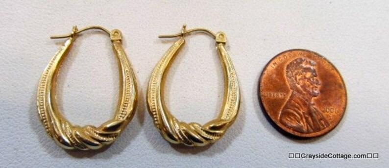 14k Gold Hoop Earrings \u2022 Yellow Gold Earrings \u2022 Gold Hoop Earrings  \u2022  Hoop Earrings 14k \u2022 Twisted Hoops \u2022 14k Gold \u2022 FREE SHIPPING!