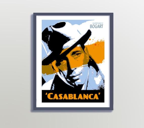 graphic regarding Printable Movie Poster called Printable Classic Video Poster, Printable Online video Poster, Artwork Deco Poster,Humphrey Bogart Poster,Traditional Online video Poster,Online video Poster