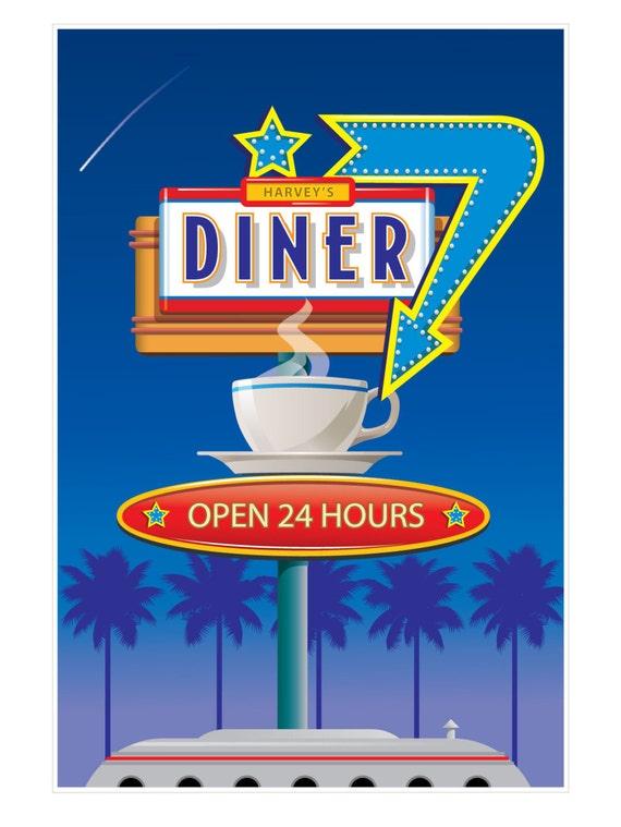 Vintage Poster Vintage Diner Poster Vintage Travel Poster ...
