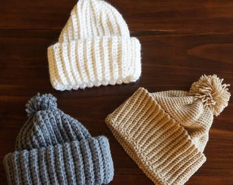 READY TO SHIP - Bulky Adult Hat