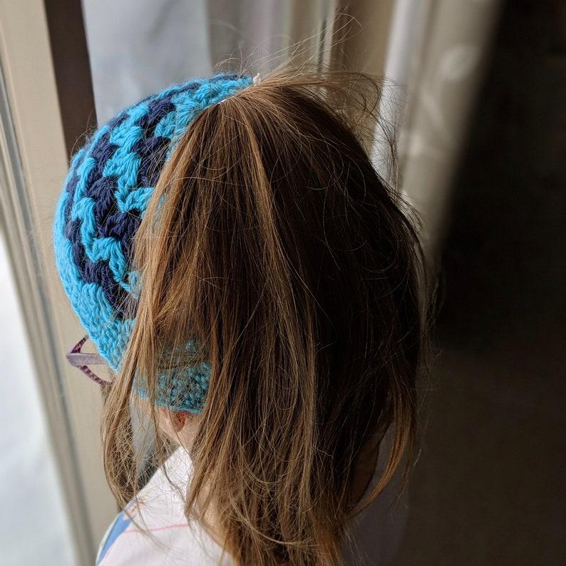 Messy Bun Hat  Ponytail Hat for Toddler  Messy Bun Hat for Child  Ponytail Hat
