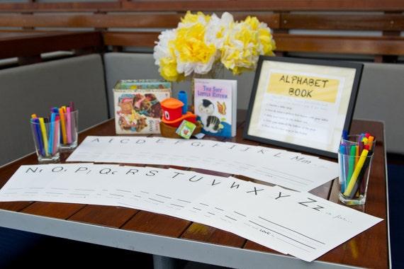 Baby Alphabet Book A Baby Shower Game Gift Diy Instant Etsy