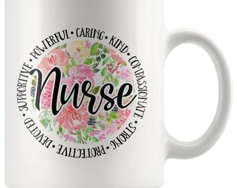 Nurse Love Floral Mug