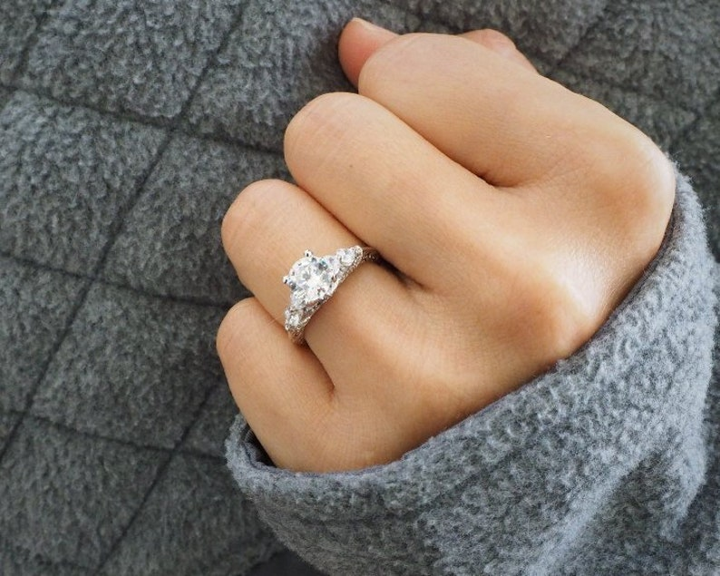 191422212bef17 One of our Best Sellers Vintage-Inspired Engagement Ring   Etsy