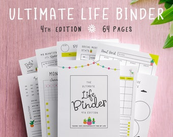 Planner, Ultimate Life Binder, Blog, Organizer, Daily, Weekly, Monthly, Social Media, Financial, Budget, Llamas, Cactus, US Letter, A4, A5