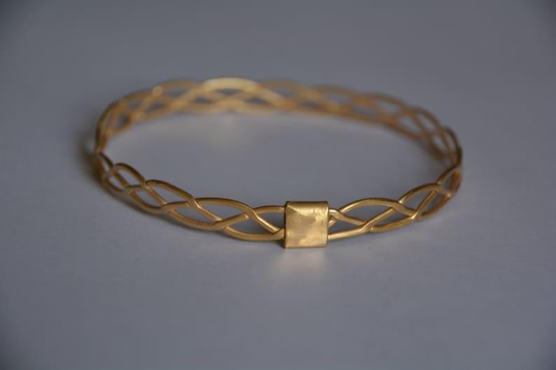 a3223c2d222d8 Gold bangles 14k, braided bracelet, bangle bracelets, gold bracelet  bridesmaid, vintage bracelet gold, braided bangle, gold bridal bracelet