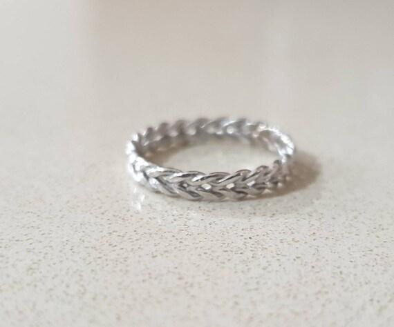 14k gold ring braid wedding ring women solid gold ring Wedding band women white gold gold wedding bands rose gold ring 9k gold ring